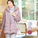 【値下げ SALE】レディース ダウンコート ミセスカジュアル ファッション 40代 50代 婦人服 冬物 アウター フード付き フォックスファ…
