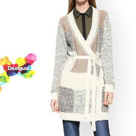 セール SALE 50%off Desigual デシグアル レディース ミセス ファッション カーディガン ロング 長袖 30代 40代 50代【ベージュ】【S/M/L/XL/大きいサイズ】【17WWJF55】
