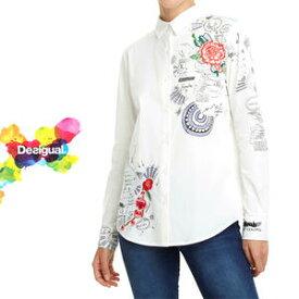 デシグアル Desigual レディース ミセス ファッション 春夏 トップス 長袖 ブラウス カジュアル 30代 40代 50代【S/M/L/小さいサイズ】【送料無料】