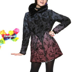 セール SALE 30%off デシグアル Desigual 中綿コート レディース 冬物 ミセス ファッション アウター ジャケット ファー 花柄 30代 40代 50代【ベージュ/ネイビー/ブラック】【M/L/XL/XXL/大きいサイズ】【18WWEWBH】