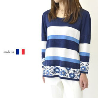 It is a navy for present 50s 60 generations in the size Mrs. fashion high quality present Mother's Day when sleeve fashion is big in the spring and summer for knit eight minutes in knit summer