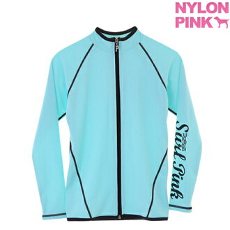 Zip-up jumper jumper women's sportswear 2016 new nylon outer NYLONPINK managers recommend products nylon Pink's cute zip-up sweaters absorbing sweat drying 10P01Oct16