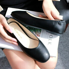 フラットシューズ スクエアトゥ レディース シューズ スクエアトゥ フラットシューズ 履き心地 パンプス レディース 靴 無地 フラットシューズ パンプス フラットパンプス ブラック シューズ 靴 レディース パンプス ローヒール ぺたんこシューズ ローカット 靴 VOCE