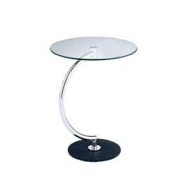 【期間限定クーポン配布中】サイドテーブル(クリアガラス)/テーブル サイドテーブル ガラス 丸 北欧 モダン おしゃれ シンプル かわいい ナチュラル ソファテーブル ベッドサイドテーブル スリム 人気 おすすめ