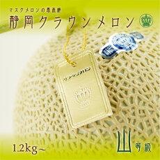 特別最高等級「千個に1個の究極クラウンメロン」富士1玉富士桐箱1.4kg