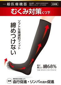 【売り尽くし】 むくみ対策靴下 日本製 締め付けない むくみ 解消 ソックス 靴下 くつした 浮腫み 血行改善 医療用 日本製 リンパ快足 メンズ レディース 弾性ストッキング きつくない 一般医療機器 デスクワーク ネコポス 送料無料