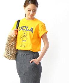 GOOD ROCK SPEED(グッドロックスピード)コットン クルーネック 半袖 プリント Tシャツ カレッジTシャツ ロゴT UCLA・19UCL004W-0241901【メール便可能商品】[M便 5/5]【レディース】【■■】