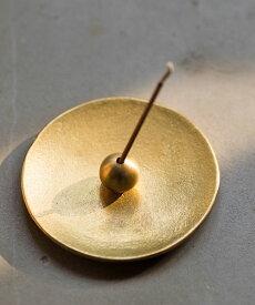 能作/NOUSAKU(ノウサク)錫 真鍮 香立て 香の器セット 丸・INCENSESTAND-R-4702102【レディース】【1F-W】【■■】