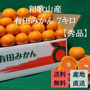 産地直送 【秀品】 和歌山県産 有田みかん 7kg