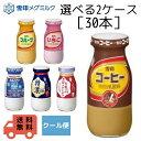雪印メグミルク 選べる 2ケース(30本) 牛乳 特濃 カルパワー コーヒー いちご フルーツ 懐かしい 瓶 び…