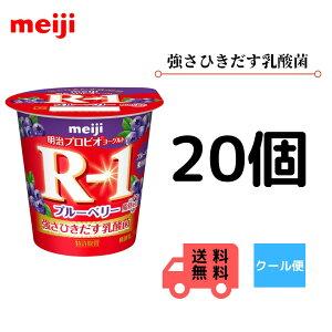 明治 R-1 食べるタイプ ブルーベリー脂肪0 112g×20個 クール便 健康 乳酸菌 乳飲料 乳製品 送料無料 ヨーグルト 112ml 強さ引き出す 低糖 低カロリー 免疫力アップ 人気 ブ