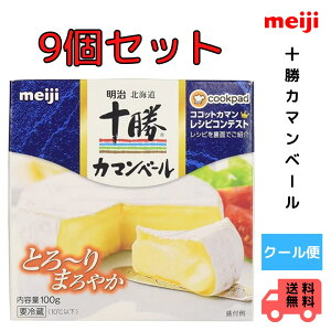 明治 北海道十勝カマンベールチーズ切れていないタイプ 90g×9個 meiji クール便 とろり まろやか 送料無料