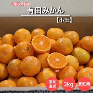 【産地直送】和歌山産 有田みかん 3kg 小玉(訳あり)