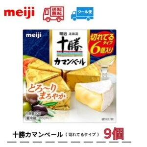 明治 北海道十勝カマンベールチーズ切れてるタイプ(90g)×9個 meiji 送料無料 クール便