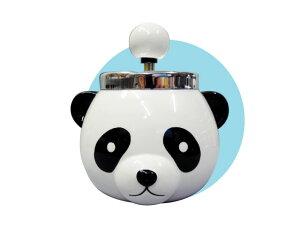 パンダ灰皿【プッシュ式 回転 フタ付き】【IQOS アイコス glo グローにも◎♪】