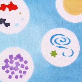 【3枚以上で送料無料】かまわぬてぬぐい「涼菓」 かまわぬ 小紋柄 夏柄 生地 日本てぬぐい 手ぬぐい 日本 飾り 布 生地 包む メール便