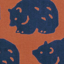 【3枚以上で送料無料】かまわぬてぬぐい「ごろごろ熊」 かまわぬ 小紋柄 生地 日本てぬぐい 手ぬぐい 日本 飾り 布 生地 包む メール便