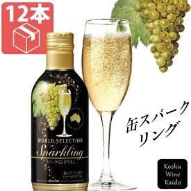 キャッシュレスで5%還元 \お得なケース販売!!/メルシャンワールドセレクション スパークリングワイン 290ml×12本入り(ケース)