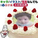 最短当日出荷★5号 4〜6人 丸 生クリーム 直径15cm お誕生日ケーキ 写真 ケーキ フォトケーキ 子供 一歳 1歳 1才 男の…