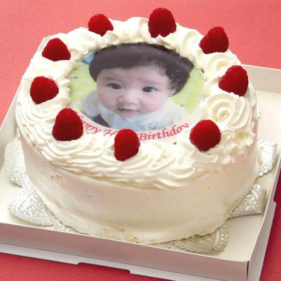 写真ケーキ(丸) 5号 生クリーム【冷凍 到着後は冷蔵庫で3〜4時間保管解凍】 誕生日ケ−キ 15cm