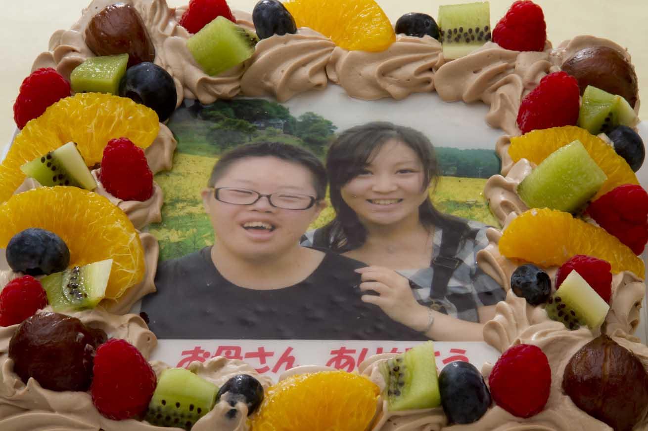 写真ケーキ(四角) 生チョコ 6号【冷凍 到着後は冷蔵庫で3〜4時間保管解凍】 18×18cm