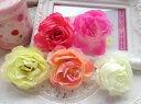 ★在庫処分★コサージュ用造花 /薔薇造花 / 髪飾り用造花/アクセサリー用造花50個