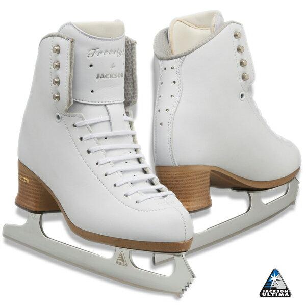 フィギュアスケート スケート靴 JACKSON(ジャクソン) フリースタイル フュージョン ミラージュ セット 白