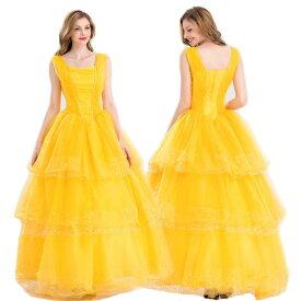 deccd1e22a991 美女と野獣 ベル ドレス コスチューム ラ・ベル コスプレ プリンセス 衣装