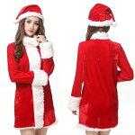 サンタコスプレレディースサンタコスサンタクロース衣装コスチュームクリスマスコスプレ