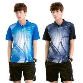 卓球 ユニフォーム シャツ ウェア ゲーム シャツ 半袖 メンズ