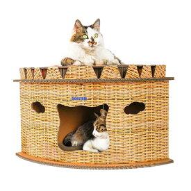 キャットハウス ダンボール 猫 ハウス キャットタワー 爪とぎ 猫用 家 子猫 ドーム型 ベッド ペット用 ねこ ペットハウス 春 夏 秋 用