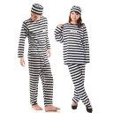 囚人服 囚人 コスプレ メンズ 衣装 レディース コスチューム 男 長袖 女 ペア