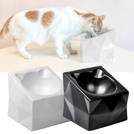 猫 食器 陶器 フードボウル 食べやすい 猫用 ねこ 食事 皿 傾き 子猫 餌入れ 器 食器台 ペット食器 おしゃれ