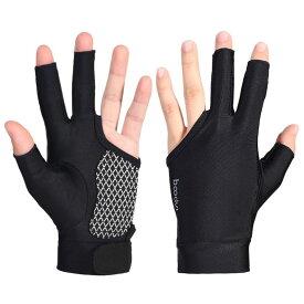 ビリヤード グローブ 3本指 右利き用 男女兼用 ビリヤード手袋 右手 ビリヤードグローブ ユニセックス