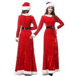 サンタコスプレレディースサンタコスクリスマス衣装服サンタクロース仮装ロングスカート女性