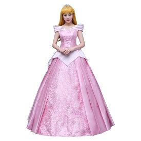 オーロラ姫 ドレス 大人 衣装 コスプレ 眠れる森の美女 プリンセス レディース ハロウィン コス 衣装 仮装 成人
