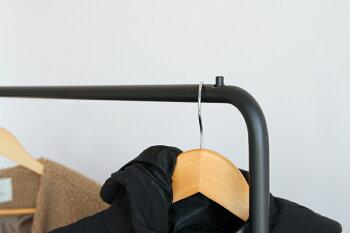 【送料無料】anthemBarHangerハンガーラックコート掛け収納スチールショップ風ウォールナットブラックスチール【anh-3048】一人暮らしオシャレ|収納家具