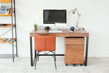 ウォールナットパソコンデスクシンプルデザイン書斎机幅1200引き出しemo.エモanthemアンセムSOHOオフィス|ウォルナットパソコンデスク木製天然木パソコンテーブルオフィステーブルおしゃれオフィスデスクテーブルハイタイプpcデスク