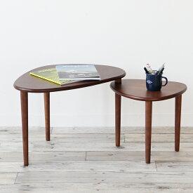 【46%OFF 在庫限りSALE】emo Swing Table テーブル 折りたたみテーブル 収納可能 天然木 ブラウン 可動式 大小組合せ センターテーブル リビングテーブル EMT-3053BR emo branche エモブランシェ プレゼント table