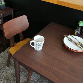 【送料無料】ダイニングテーブル2人掛け75cmサイズ天然木シンプルブラウン新生活カワイイデスクtable引越しテーブル単品正方形スクエアEMT-3057BRGLemoDiningTable750emobrancheエモブランシェ北欧作業机食卓キッチンおしゃれ