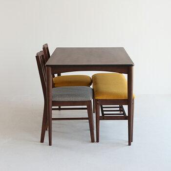 【送料無料】ダイニングテーブル4人掛けサイズ横幅120cmブラウンシンプルテーブル単品table天然木ウォールナット食卓キッチン作業台ダイニングリビングカフェ引越し新生活食卓机EMT-3058BRemoDiningTable1200ブラウン家具北欧