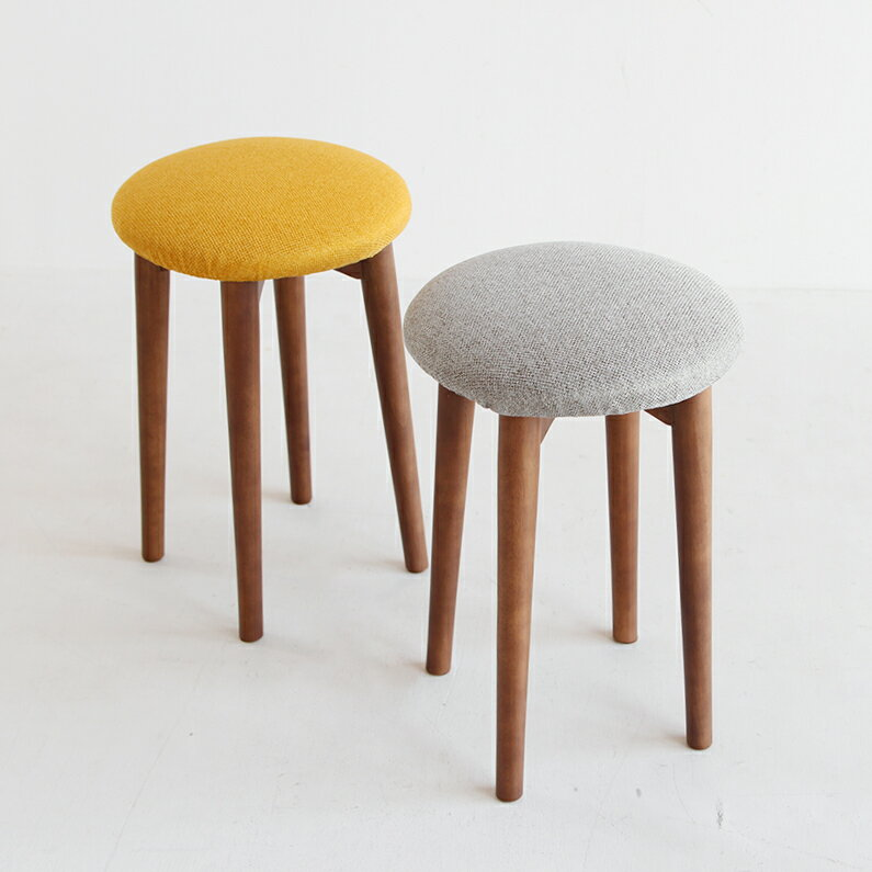 【37%OFF!!在庫限りSALE】【【送料無料】 スツール 椅子 作業イス チェア カフェ バー カウンター stool ミシン 椅子 作業 イエロー カバー 天然木 カワイイ カフェ おしゃれ 洗濯可能 グレー キッチン 台所 EMS-3066YL EMS-3066GY emo Stool emo branche