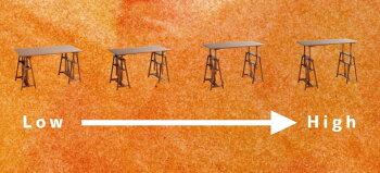 【送料無料】作業台アトリエテーブルデスク工作hommageオマージュDIYテーブルつくえ机インテリア木製ウッドデスク高さ調節ワークデスクリビングリビングデスク作業机ワークデスクカントリーカフェおしゃれインテリ