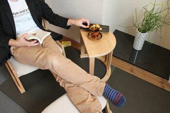 【送料無料】LotonSideTableテーブルサイドテーブルナイトテーブルコーナーテーブル天然木ミニテーブル半円アーチ書斎ナチュラル