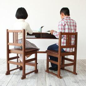 noteco チェア 椅子 イス キッズチェア こども椅子 キッズ チェアー こどもいす こども用 学校 子ども レトロ 子供 部屋 プレゼント リビング 学習 教室 天然木 かわいい デスク レトロ ブラウン 兄弟 姉妹 親子
