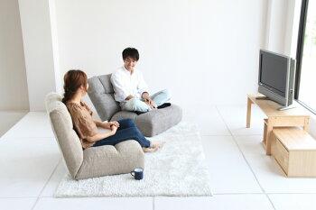 【送料無料】座椅子14段階リクライニングチェアー座いすコンパクトリクライニングチェア座イス1人掛けソファー一人掛けソファいすイス椅子チェアファブリックフロアチェア