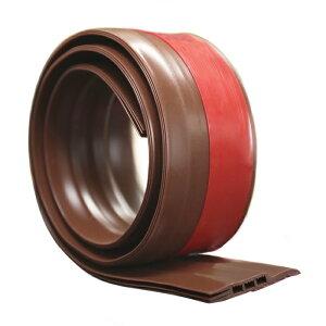 KTJ 隙間テープ ドアストッパー ドア下部ストリップ ドア隙間シールテープ 防水 半透明 すきま風防止 防虫 ソフトなシリコーン (ブラウン/ホワイト)