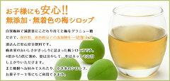 梅シロップ500ml1本(梅ジュース)