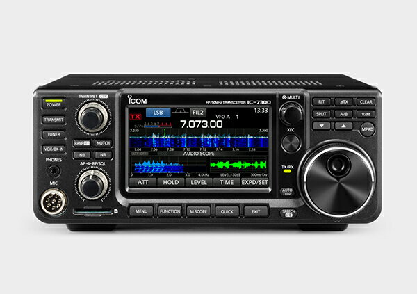 特選品。アイコムHF/50MHzオールモードアマチュア無線機IC-7300 100W