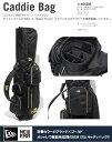 ●NEW ERA/ニューエラキャディバッグ Caddie Bag ブラック×ゴールド 11404388 NEWERACB
